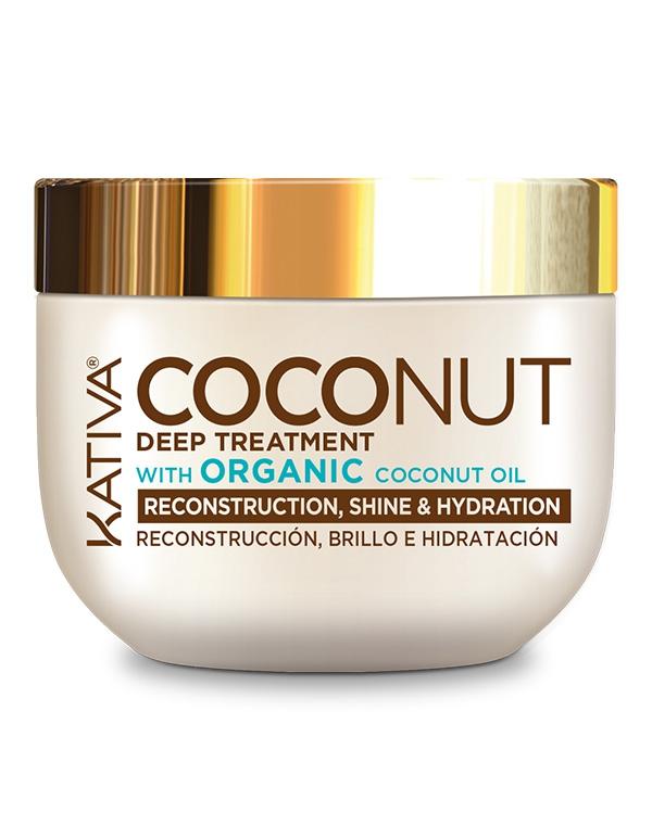 Купить Маска для волос Kativa, Восстанавливающая маска с органическим кокосовым маслом для поврежденных волос Coconut, Kativa