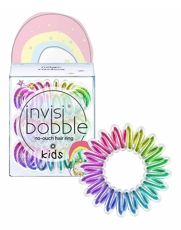 Аксессуары и расходники InvisibobbleСредства для укладки волос<br>Резинка для волос invisibobble KIDS magic rainbow — революционный модный аксессуар, способный уберечь волосы девочек, сделать красивую причёску и &amp;amp;quot;зарядить&amp;amp;quot; радужным настроением!<br><br>Бренды: Invisibobble<br>Вид товара: Аксессуары и расходники<br>Область ухода: Волосы<br>Назначение: Стайлинг<br>Тип кожи, волос: Осветленные, мелированные, Окрашенные, Вьющиеся, Сухая, Сухие, поврежденные, Увядающая, Жирные, Жирная и комбинированная, Нормальная, Нормальные, Чувствительная, Тонкие, С куперозом<br>Косметическая линия: Линия Power