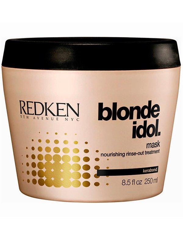 Маска Blonde Idol для светлых волос RedkenМаски для окрашеных волос<br>Маска Блонд Айдол основана на формуле, полноценно питающей и восстанавливающей ослабленные и поврежденные локоны. Она сглаживает чешуйки кутикулярного слоя, заполняя пустые участки.<br><br>Бренды: Redken<br>Вид товара: Маска для волос<br>Область ухода: Волосы<br>Назначение: Увлажнение и питание, Восстановление и защита<br>Тип кожи, волос: Окрашенные, Осветленные, мелированные<br>Косметическая линия: Линия Blonde Idol для светлых волос