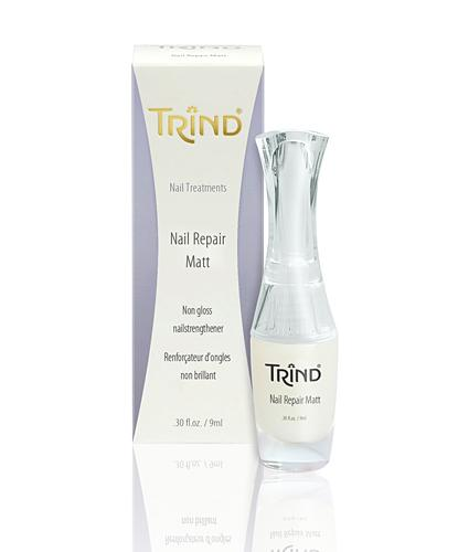 Лак для ногтей Trind Укрепитель ногтей матовый Trind, 9 ml trind восстанавливающий крем для потрескавшейся кожи пяток и стоп trind salon lines repairing heel cream 50202001 200 г