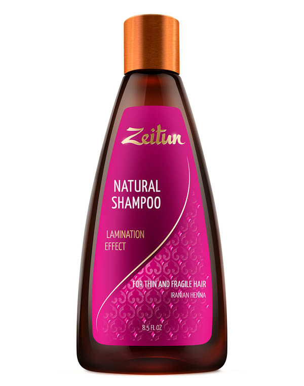 Купить Шампунь Zeitun, Шампунь Эффект ламинирования для тонких и хрупких волос с иранской хной Zeitun