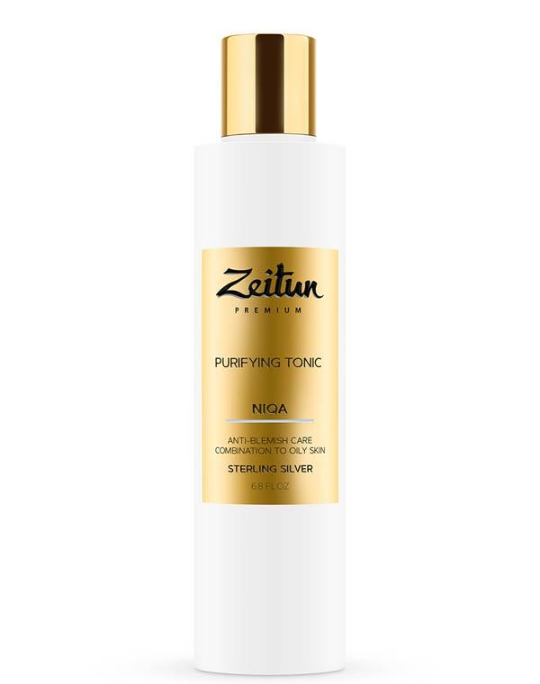 Тоник очищающий против несовершенств Niqa для комбинированной и жирной кожи с серебром Zeitun недорого