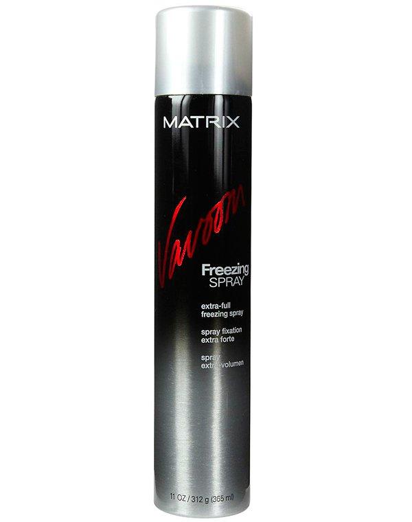 Спрей, мусс MatrixЛак для волос<br>Экстра сильная фиксация причесок любой сложности без утяжеления и эффекта жесткости. Не оставляет следов, мгновенно сохнет на волосах. Защ...<br><br>Бренды: Matrix<br>Вид товара: Спрей, мусс<br>Область ухода: Волосы<br>Назначение: Стайлинг, Для объема<br>Тип кожи, волос: Осветленные, мелированные, Окрашенные, Вьющиеся, Сухие, поврежденные, Жирные, Нормальные, Тонкие<br>Косметическая линия: Линия Vavoom стайлинга