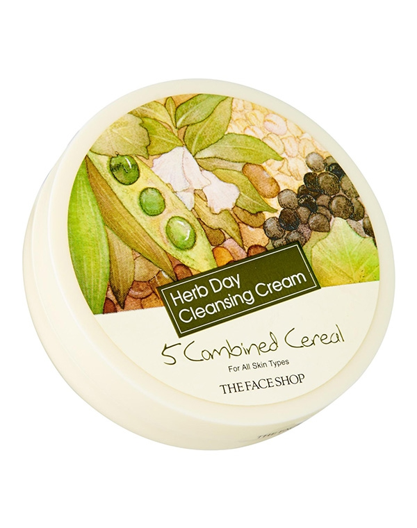Крем The Face Shop Очищающий  Herb Day Cleansing Cream Five Grain,   , 150 мл