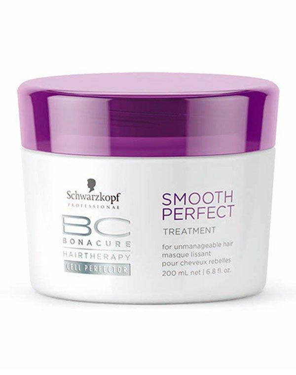 Маска для волос SchwarzkopfМаска обеспечит интенсивный уход за жесткими и непокорными прядками. Она восстановит сердцевину волоса, защитит волосы от высоких температур в процессе разглаживания.<br><br>Бренды: Schwarzkopf Professional<br>Вид товара: Маска для волос<br>Область ухода: Волосы<br>Назначение: Выпрямление<br>Тип кожи, волос: Осветленные, мелированные, Окрашенные, Вьющиеся, Сухие, поврежденные<br>Косметическая линия: Линия Bonacure Smooth Perfect идеальная гладкость