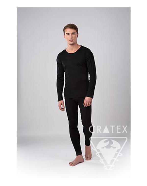 Фуфайка мужская (черн) CRATEX, L - Поврежденная упаковка