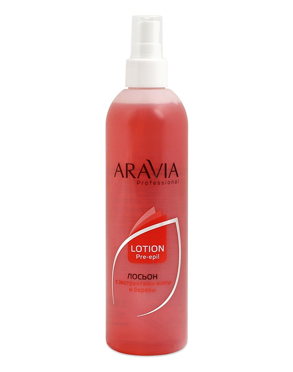Купить Косметика для депиляции Aravia, Лосьон для подготовки кожи перед депиляцией с экстрактами мяты и березы ARAVIA Professional, 300 мл
