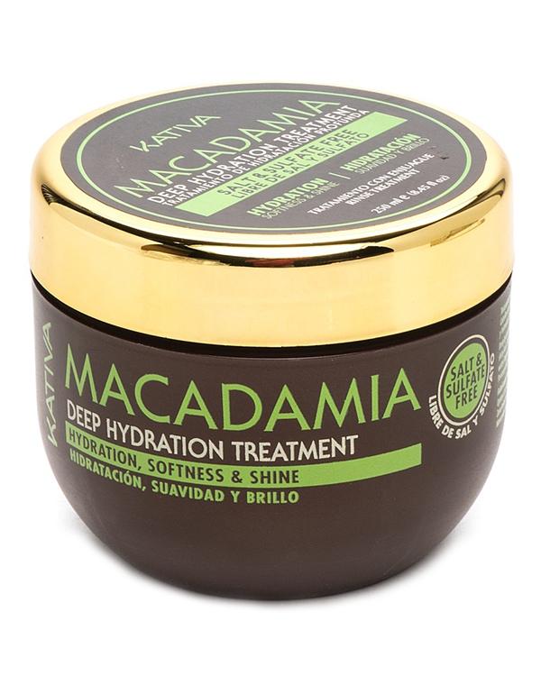Маска для волос Kativa Интенсивно увлажняющая маска для волос Kativa MACADAMIA, 250мл интенсивно увлажняющий кондиционер kativa для нормальных и поврежденных волос macadamia 1000мл