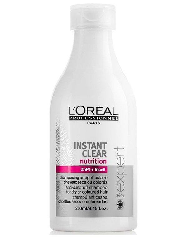 Шампунь от перхоти для нормальных и жирных волос Instant Clear LorealШампуни для лечения волос<br>Шампунь направлен на устранение перхоти и восстановление здоровья и естественного блеска кожных покровов головы и локонов.<br><br>Бренды: Loreal Professional<br>Вид товара: Шампунь<br>Область ухода: Волосы<br>Назначение: Лечение перхоти<br>Тип кожи, волос: Осветленные, мелированные, Окрашенные, Вьющиеся, Сухие, поврежденные, Жирные, Нормальные, Тонкие<br>Косметическая линия: Линия Instant Clear против перхоти