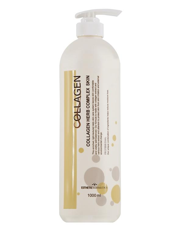 Тоник для лица Коллаген и растительные экстракты Collagen herb complex Skin, Esthetic house, 1000 мл все цены