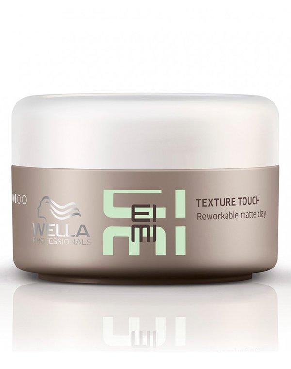 Глина-трансформер матовая Texture Touch WellaСредства для укладки волос<br>Гель транформер с легкой текстурой позволяет легко моделировать прическу, защищает от ультрафиолета.<br><br>Бренды: Wella Professional<br>Вид товара: Гель, воск<br>Область ухода: Волосы<br>Назначение: Стайлинг<br>Тип кожи, волос: Осветленные, мелированные, Окрашенные, Вьющиеся, Сухие, поврежденные, Нормальные, Тонкие<br>Косметическая линия: Линия Wella Eimi стайлинга