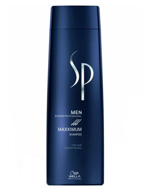 Шампунь максимум против выпадения волос Men Maxximum Shampoo Wella SPШампуни от выпадения волос<br>Шампунь идеален для ежедневного очищения. Он замедляет выпадение волос.<br><br>Бренды: Wella System Professional<br>Вид товара: Шампунь<br>Область ухода: Волосы<br>Назначение: От выпадения волос, Очищение волос<br>Тип кожи, волос: Нормальные, Тонкие<br>Косметическая линия: Линия SP MEN ухода за волосами для мужчин