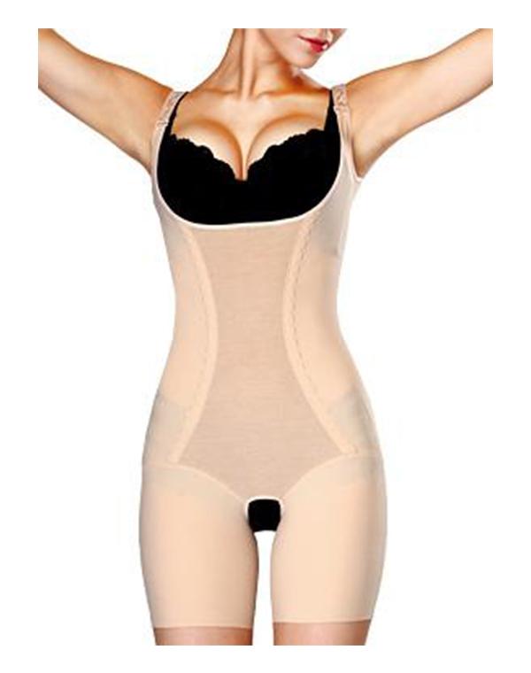 Корректирующее утягивающее белье Slim'n'Shape Bodysuit (комбидрес) телесный, Gezatone
