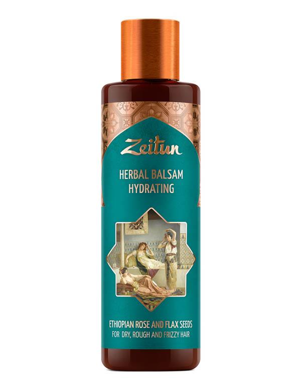 Купить Бальзам Zeitun, Фито-бальзам увлажняющий для сухих, жестких и кудрявых волос с эфиопской розой и льном Zeitun