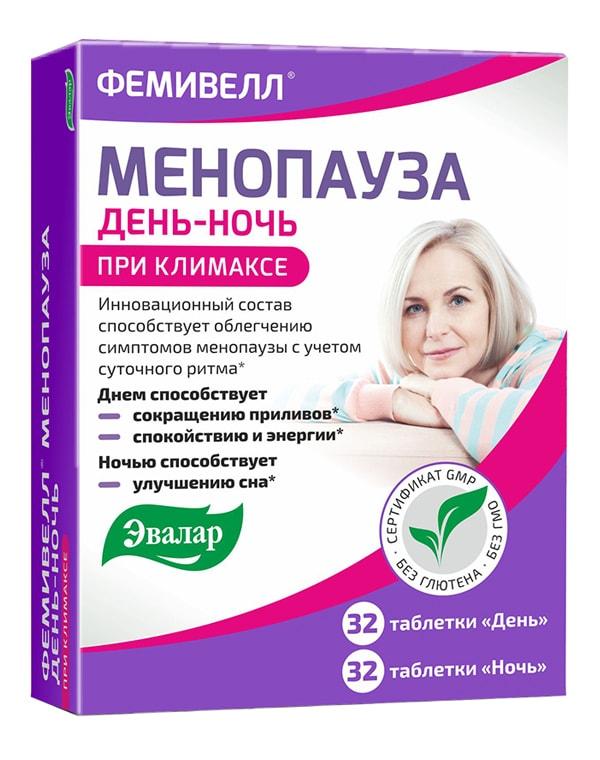 Фемивелл менопауза, Эвалар, 64 таблетки  - Купить