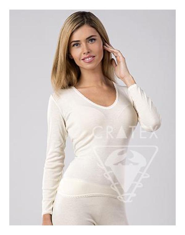 Женское термобелье шерстяное с ангорой, кофточка, Cratex кофточка flexi