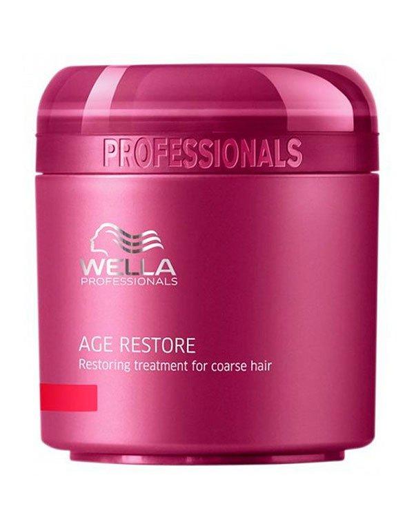Маска восстанавливающая для жестких волос WellaМаски для сухих волос<br>Маска с легкой текстурой для ухода за жесткими волосами. Глубоко питает и увлажняет.<br><br>Бренды: Wella Professional<br>Вид товара: Маска для волос<br>Область ухода: Волосы<br>Назначение: Увлажнение и питание<br>Косметическая линия: Линия Wella Age Line Антивозрастная для волос