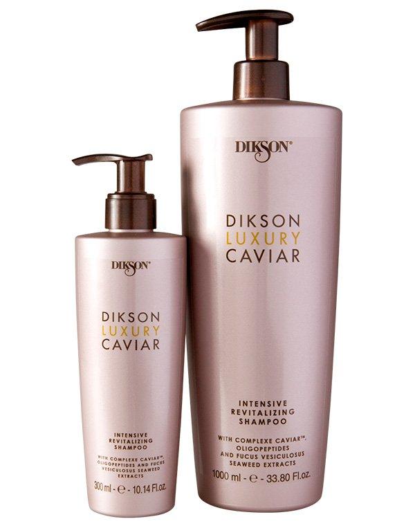 Интенсивный ревитализирующий шампунь c Complexe Caviar Shampo Luxury Caviar, DiksonШампуни для лечения волос<br>Шампунь бережно очищает локоны, насыщает их силой, энергией и здоровьем. Он превосходно омолаживает пряди, уплотняя структуру волос.<br><br>Бренды: Dikson<br>Вид товара: Шампунь<br>Область ухода: Волосы<br>Назначение: Увлажнение и питание, Восстановление и защита<br>Тип кожи, волос: Осветленные, мелированные, Окрашенные, Вьющиеся, Сухие, поврежденные, Нормальные, Тонкие<br>Косметическая линия: Линия Luxury Caviar на основе экстракта черной икры<br>Объем мл: 1000