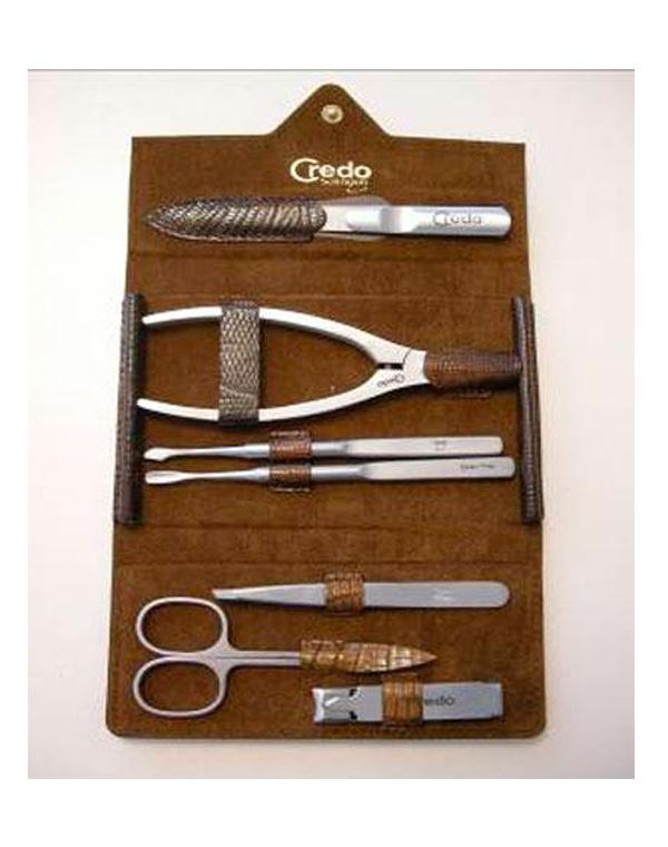 Купить Инструмент для маникюра CREDO Solingen, Набор для маникюра и педикюра из 7 предметов Ящерица , Credo
