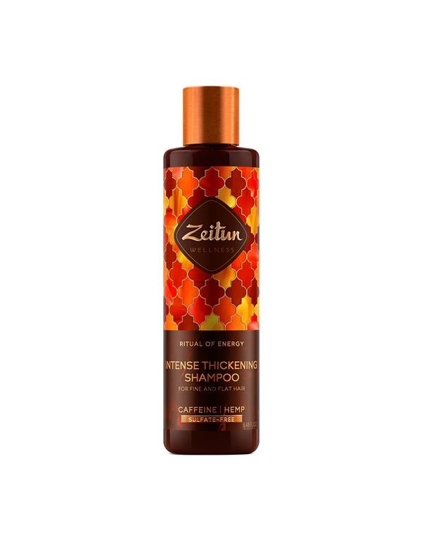 Купить Шампунь Zeitun, Шампунь для объема и роста тонких волос Ритуал энергии с кофеином и конопляным маслом Zeitun