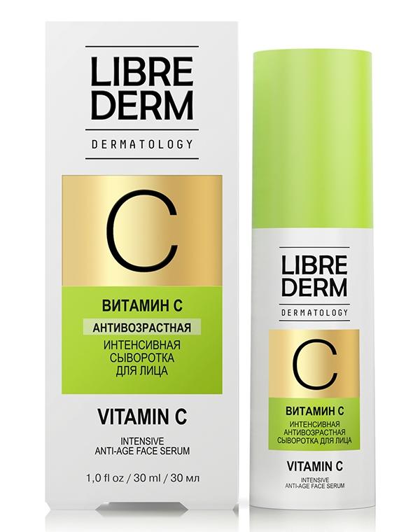 Сыворотка, концентрат LibredermСыворотки для восстановления кожи лица<br>Интенсивная сыворотка выравнивает микрорельеф лица, разглаживает морщины. Она обогащена витамином С в липидной форме, что способствует отличному проникновению активных веществ и мгновенному результату!<br><br>Бренды: Librederm<br>Вид товара: Сыворотка, концентрат<br>Область ухода: Лицо<br>Назначение: Увлажнение и питание<br>Тип кожи, волос: Увядающая<br>Возрастная группа: Более 40, До 30, До 40<br>Косметическая линия: Линия Dermatology