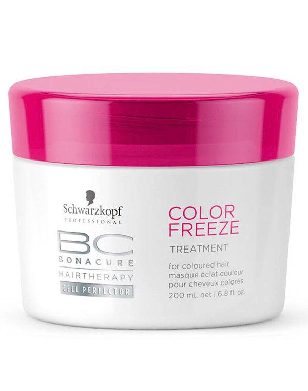 Маска для волос Schwarzkopf ProfessionalМаски для окрашеных волос<br>Маска с кремообразной текстурой интенсивно восстановит окрашенные волосы. Она незаменима для волос, которые подвергались частым окрашива...<br><br>Бренды: Schwarzkopf Professional<br>Вид товара: Маска для волос<br>Область ухода: Волосы<br>Назначение: Защита цвета, Восстановление и защита<br>Тип кожи, волос: Окрашенные, Осветленные, мелированные<br>Косметическая линия: Линия Bonacure Color Freeze Защита цвета волос