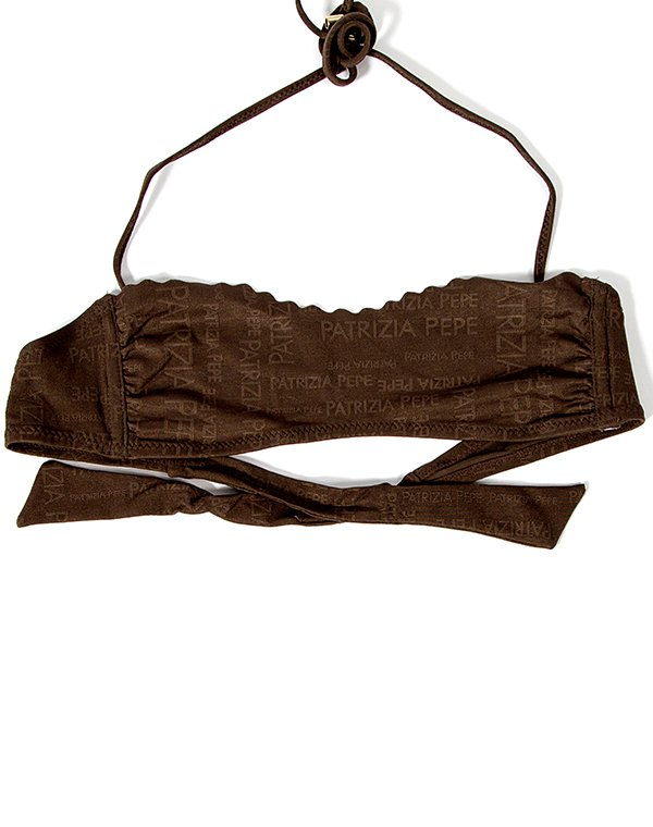 Patrizia Pepe бюст бандо коричневый к купальнику FASCIA BEACHWEAR