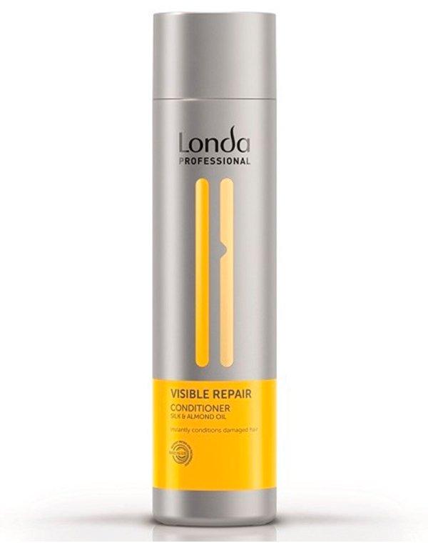 Кондиционер для поврежденных волос Visible Repair LondaКондиционер мгновенно обновляет даже сильно поврежденные пряди изнутри.<br><br>Бренды: Londa Professional<br>Вид товара: Кондиционер, бальзам<br>Область ухода: Волосы<br>Назначение: Увлажнение и питание, Восстановление волос<br>Тип кожи, волос: Осветленные, мелированные, Окрашенные, Сухие, поврежденные<br>Косметическая линия: Линия Visible Repair для поврежденных волос<br>Объем мл: 250