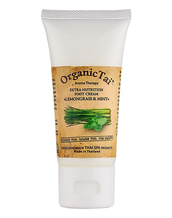 Крем для ног экстраувлажняющий «Лемонграсс и мята» Organic Tai, 60 мл цена и фото