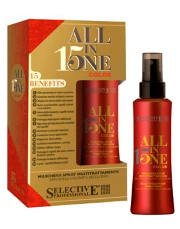 Маска-спрей 15 в 1 для окрашенных волос ALL IN ONE, Selective, 150 мл светильник подвесной lucide morley цвет серый e27 60 вт 16431 30 36