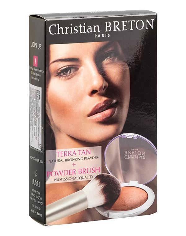 Подарочный набор Бронзовое сияние, Christian Breton ParisКосметика для лица<br>Косметический набор для красивого и естественного макияжа. В набор входит бронзовая пудра, которая придает коже красивый теплый оттенок, и мягкая косметическая кисть.<br><br>Бренды: Christian Breton<br>Область ухода: Лицо<br>Назначение: Ежедневный уход<br>Тип кожи, волос: Сухая, Увядающая, Жирная и комбинированная, Нормальная, Чувствительная, С куперозом<br>Возрастная группа: Более 40, До 30, До 40