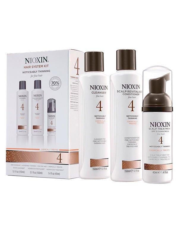 Шампунь NioxinШампуни для сухих волос<br>Восстанавливает, обеспечивает сбалансированный уход за поврежденными тонкими волосами, склонными к поредению.<br><br>Бренды: Nioxin<br>Вид товара: Шампунь, Кондиционер, бальзам, Маска для волос<br>Область ухода: Волосы<br>Назначение: Увлажнение и питание, От выпадения волос, Стимуляция роста, Очищение волос, Для объема<br>Тип кожи, волос: Осветленные, мелированные, Окрашенные, Сухие, поврежденные, Нормальные, Тонкие<br>Косметическая линия: Линия Система 4 Для тонких химобработанных волос заметно редеющих