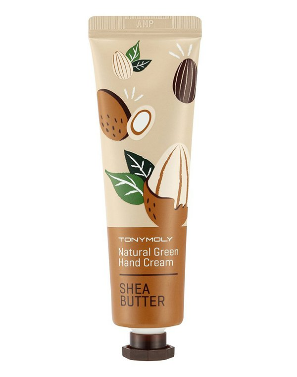 Крем для рук Natural Green Hand Cream - Shea Butter, Tony Moly