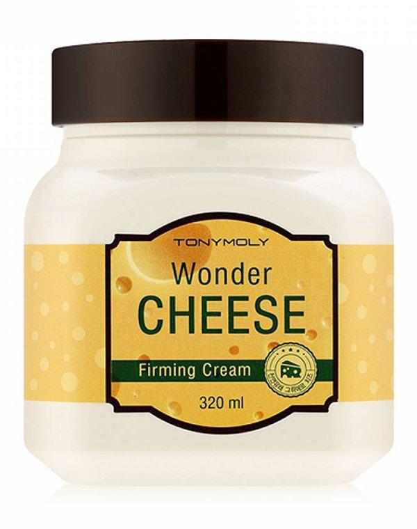 Крем с экстрактом сыра Wonder Cheese Firming cream, Tony MolyКрема для питания кожи<br>Крем с экстрактом сыра предназначен для увядающей кожи. Он эффективно борется с морщинами, дряблостью, сухостью и недостаточной эластичностью.<br><br>Бренды: Tony Moly<br>Вид товара: Крем<br>Область ухода: Спина, Тело, Бюст и декольте, Бедра и ягодицы, Лицо, Руки, Ноги, Шея и подбородок, Талия и живот<br>Назначение: Коррекция морщин и лифтинг, Увлажнение и питание, Ежедневный уход, Осветление и пигментация<br>Тип кожи, волос: Сухая, Увядающая, Жирная и комбинированная, Нормальная, Чувствительная, С куперозом<br>Возрастная группа: Более 40, До 30, До 40