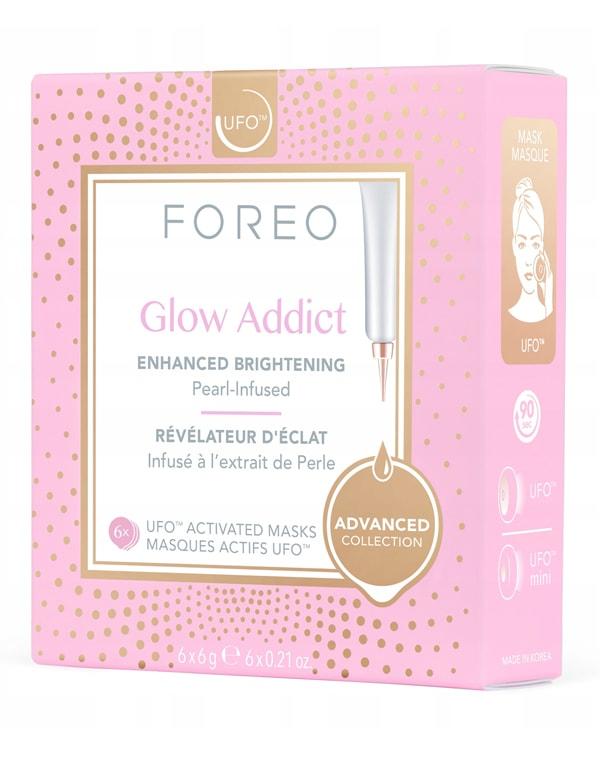 Улучшенная осветляющая маска для лица Glow Addict Mask, Foreo, 6 шт х 6 г фото