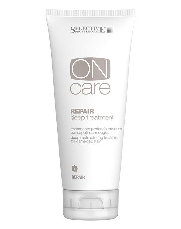 Средство глубокого восстановления поврежденных волос Repair Deep treatment , SelectiveСыворотки для восстановления волос<br>Средство интенсивного восстановления улучшает качество волоса, повышает его эластичность. Позволяет добиться естественного объема, без утяжеления прядей. После применения волосы легко расчесываются и укладываются.<br><br>Бренды: Selective<br>Вид товара: Маска для волос<br>Область ухода: Волосы<br>Назначение: Восстановление волос, Для объема<br>Тип кожи, волос: Осветленные, мелированные, Окрашенные, Сухие, поврежденные, Тонкие<br>Косметическая линия: ON CARE Nutrition Линия для восстановления поврежденных волос<br>Объем мл: 750