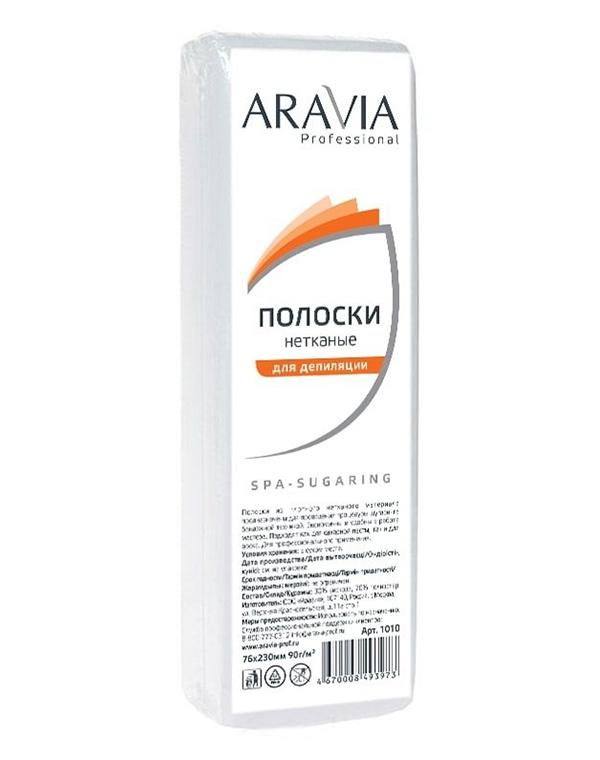 Полоски нетканые для депиляции, ARAVIA Professional, 76*230 мм, 90 г/м, 100 шт./уп. harizma полоски для депиляции 100 шт уп