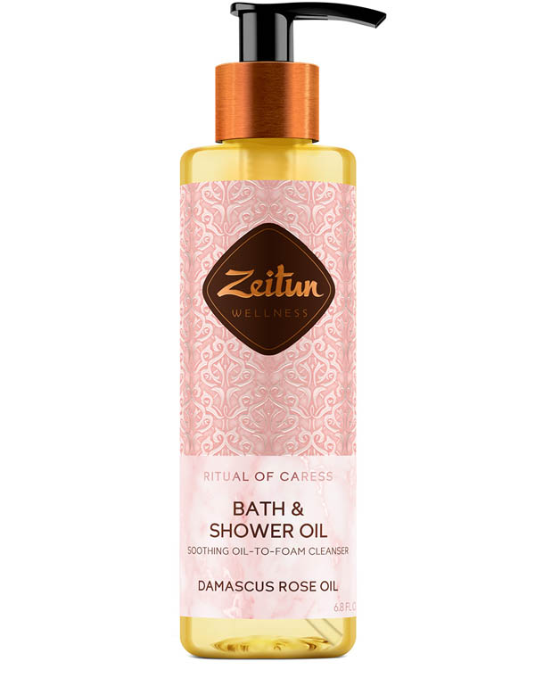Купить Масло Zeitun, Масло гидрофильное для душа смягчающее Ритуал нежности с эфирным маслом дамасской розы Zeitun