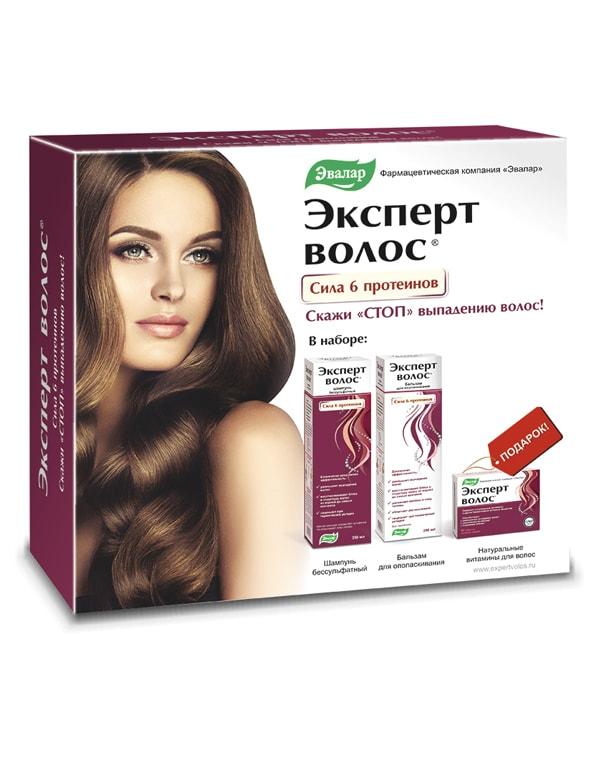 Эксперт волос подарочный набор, Эвалар эксперт волос 1 г n60 табл