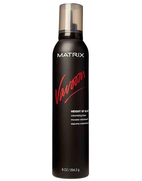 Мусс для объема Vavoom Height of glam MatrixМусс для волос<br>Мусс для экстра сильной фиксации и придания невероятного объема. Позволяет придать волосам нужную форму, без утяжеления.<br><br>Бренды: Matrix<br>Вид товара: Спрей, мусс<br>Область ухода: Волосы<br>Назначение: Стайлинг, Для объема<br>Тип кожи, волос: Осветленные, мелированные, Окрашенные, Вьющиеся, Сухие, поврежденные, Жирные, Нормальные, Тонкие<br>Косметическая линия: Линия Vavoom стайлинга