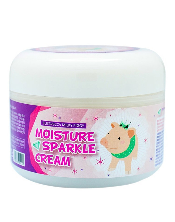 Крем Elizavecca Увлажняющий крем для лица для сияния кожи Milky Piggy Moisture Sparkle Cream Elizavecca, 100 мл пилинг elizavecca milky piggy real whitening time secret peeling cream объем 100 г