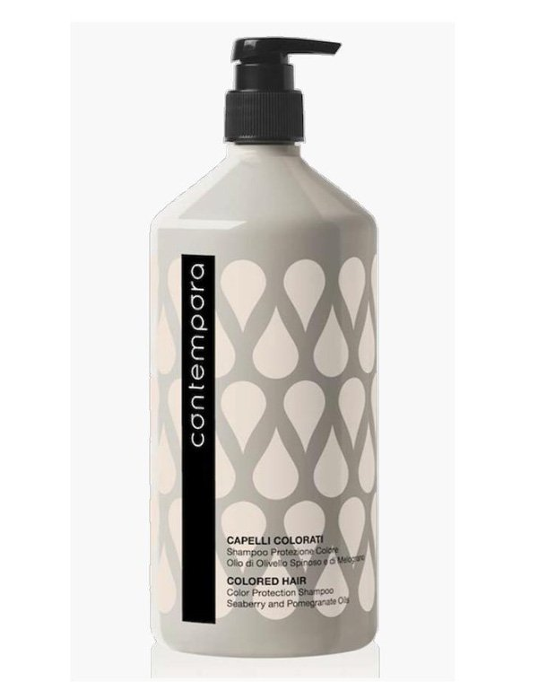 Шампунь для сохранения цвета с маслом облепихи и маслом граната Объем: 1000 мл, BarexШампуни для окрашеных волос<br>Качественное очищение волос и кожи головы без стресса для окрашенных прядей. Средство для частого применения препятствует вымыванию пигмента цвета.<br><br>Бренды: Barex<br>Вид товара: Шампунь<br>Область ухода: Волосы<br>Назначение: Защита цвета, Органический уход<br>Тип кожи, волос: Окрашенные, Осветленные, мелированные<br>Косметическая линия: Сontempora Уход на основе фруктовых масел и масла облепихи
