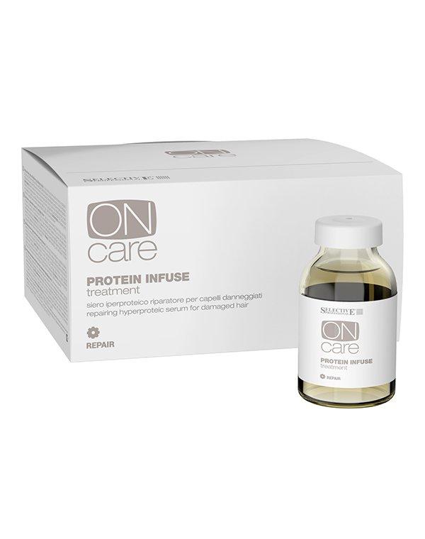 Сыворотка, флюид Selective Интенсивная протеиновая сыворотка для восстановления поврежденных волос On Care Protein Infuse Treatment, Selective