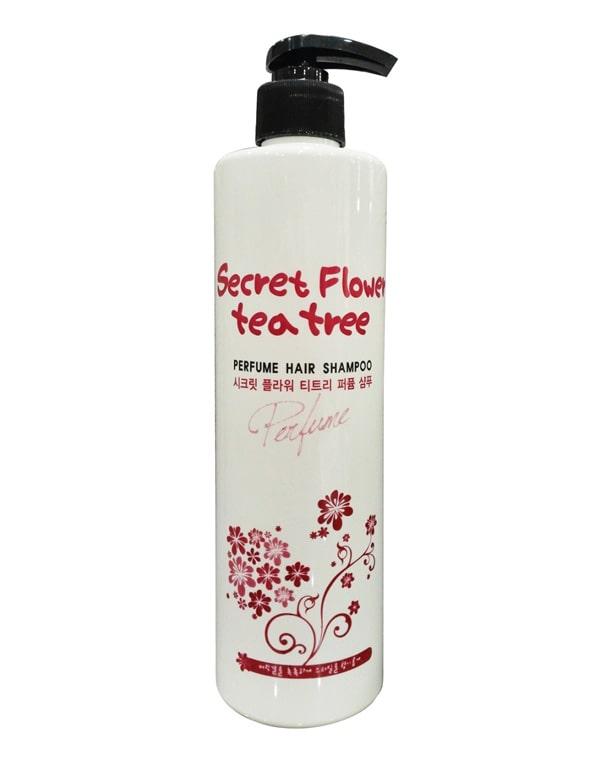 Парфюмированный шампунь со сладким цветочным ароматом Secret Flower Tea Tree, Bosnic, 500 мл