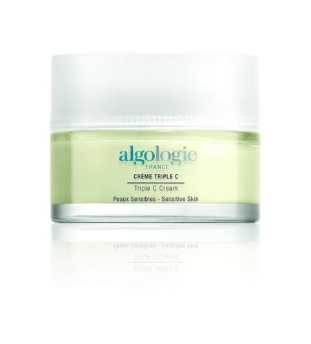 Крем Algologie Тройное С, 50 млКрема для питания кожи<br>Густой крем для всех типов кожи, в том числе для чувствительной, кожи с тенденцией к куперозу и обезвоживанию. Крем укрепляет стенки сосудов и восстанавливает нормальную микроциркуляцию, улучшая тонус и внешний вид кожи.<br><br>Бренды: ALGOLOGIE<br>Вид товара: Крем<br>Область ухода: Лицо, Шея и подбородок<br>Назначение: Коррекция морщин и лифтинг, Увлажнение и питание, Ежедневный уход, Успокаивающее, Восстановление и защита<br>Тип кожи, волос: Сухая, Увядающая, Жирная и комбинированная, Нормальная, Чувствительная, С куперозом<br>Возрастная группа: Более 40, До 30, До 40