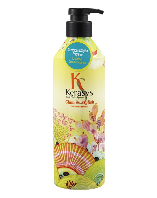 Шампунь для волос Glamor KeraSys, 600 мл кондиционер kerasys для волос увлажняющий 600 мл