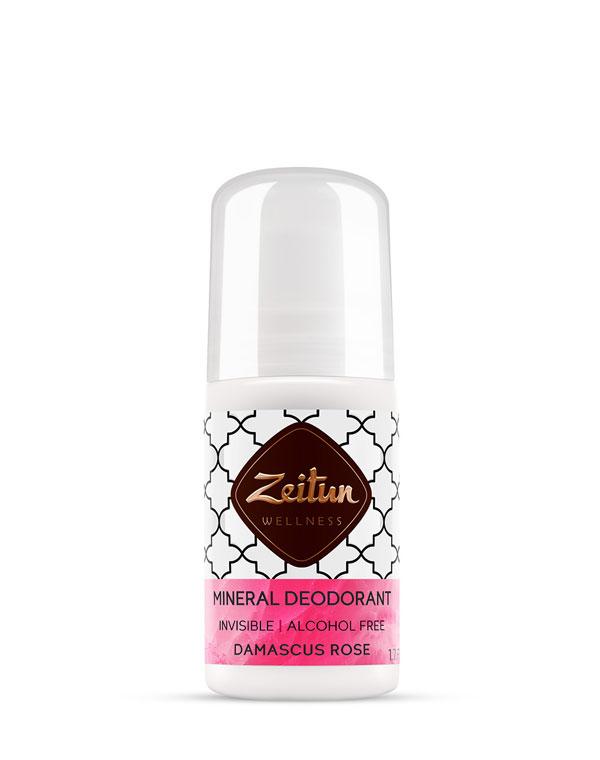 Купить Средства гигиены Zeitun, Дезодорант шариковый минеральный Дамасская роза с коллоидным серебром Zeitun