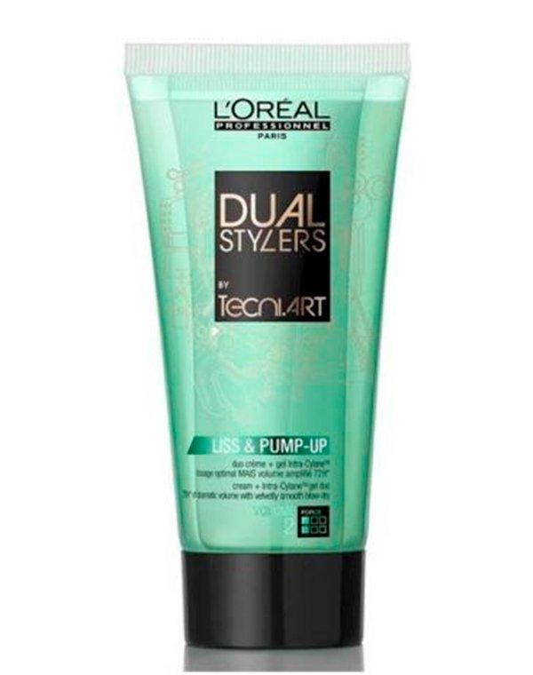 Гель, воск Loreal Professional Крем-гель объем для тонких волос Dual Stylers Liss  Pump-Up Loreal
