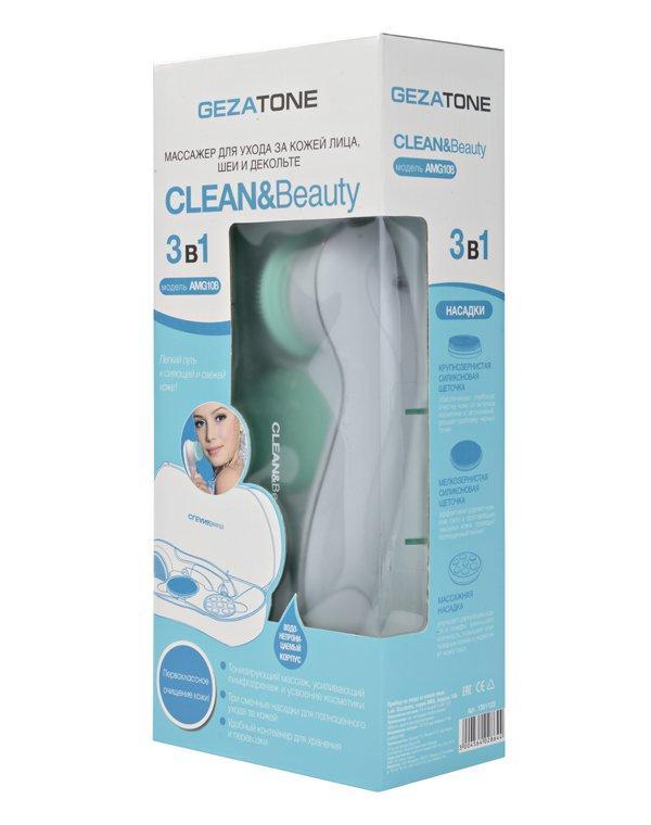 Массажер, аппарат GEZATONE Аппарат для чистки лица и ухода за кожей CleanBeauty Gezatone AMG108