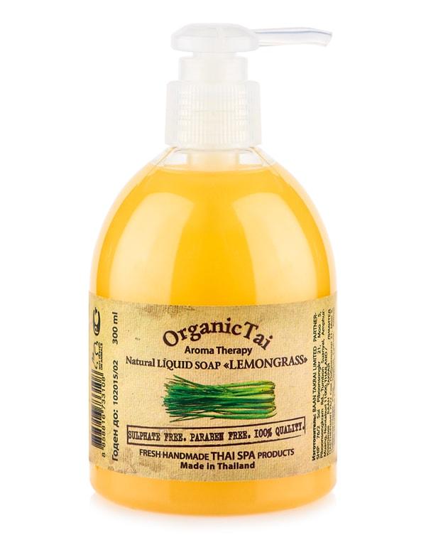 Антисептическое жидкое мыло Лемонграсс, Organic Tai, 300 мл